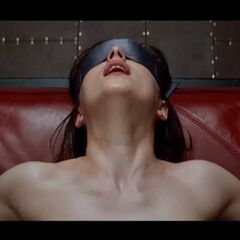 This is when Ana is in the red room of pain