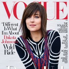 Dakota in <i>Vogue</i> magazine, February 2017.