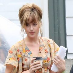 Dakota filming <i>Black Mass</i>.