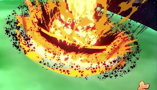 Explosão de golpes colidindo