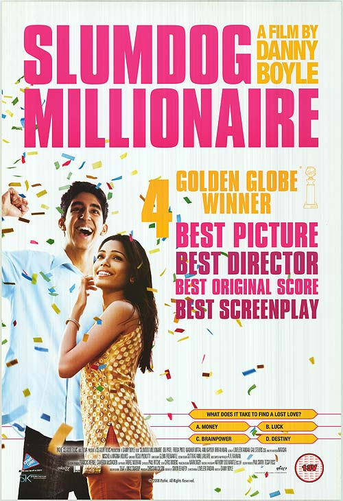 Image result for slumdog millionaire movie poster