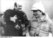Bundesarchiv Bild 183-W0211-0109, Lake Pacid, XIII. Winterolympiade, Linda Fratianne, Heinz Florian Oertel, Anett Pötzsch