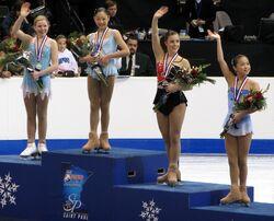 Ladies Podium 2008 US Nationals