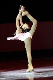 Mirai Nagasu Spin 2008 Junior Worlds