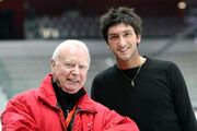 Evan Lysacek and Frank Carroll 2007-2008 GPF