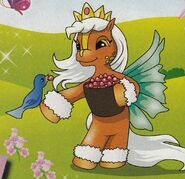 Titania-the-fairy-filly-feeding-a-bird