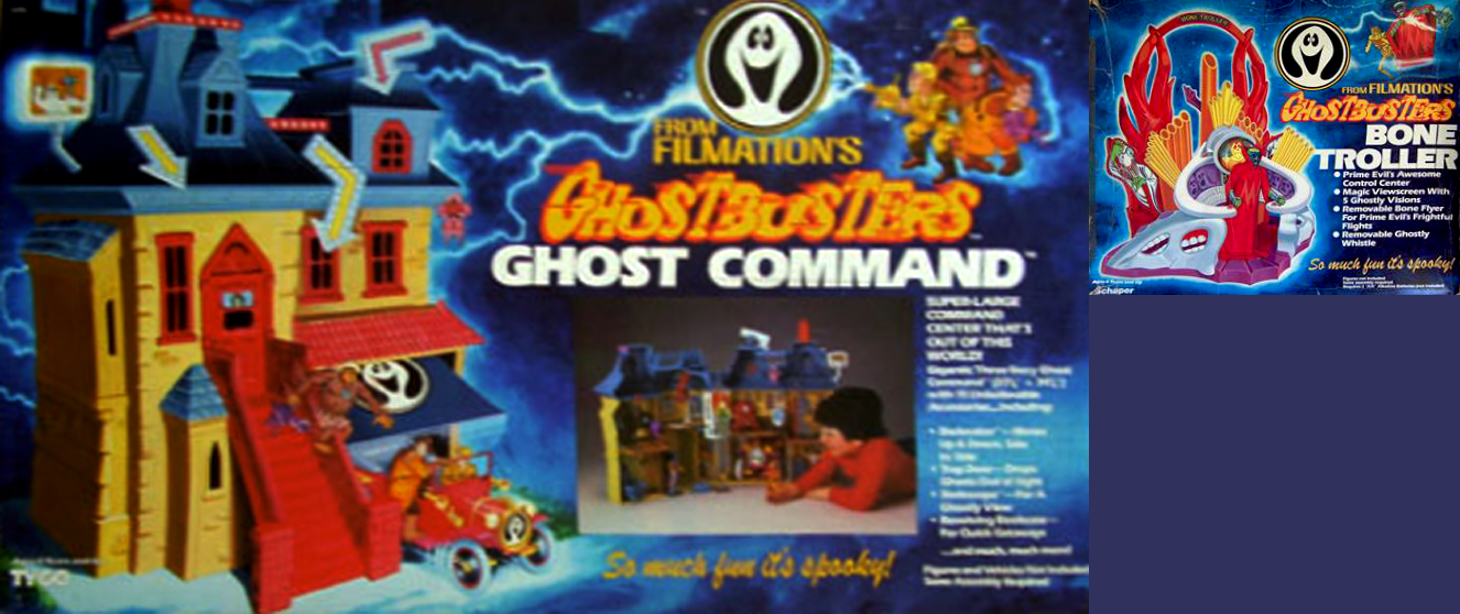 Ghostbusters Filmation Schaper Ghost Command Buggy /& Bone Troller Playset Parts