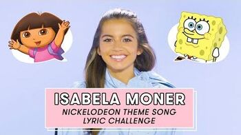 Isabela Moner aka Dora the Explorer Takes the Nickelodeon Theme Song Challenge Lyric Challenge
