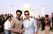 Tom Cruise visits the Taj Mahal with Anil Kapoor