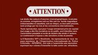 Sony R1 Warning Screen French