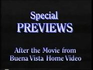 Special Previews After the Movie from Buena Vista Home Video