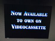 Now available to own on videocassette (version 1)