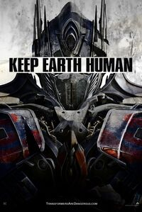 Transformersageofextinctionverkeepearthhumanposteroptimusversion