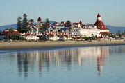 Coronado del Hotel from the beach