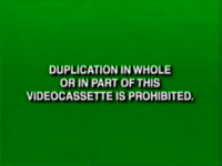 Disney Green Warning (Canadian VHS from 1997-2000)
