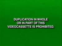 Disney Green Warning (Canadian VHS from 1997-2000)