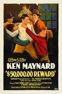 $50,000 Reward (1924) Poster