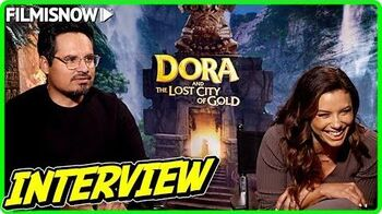 DORA AND THE LOST CITY OF GOLD Eva Longoria & Michael Peña talk about the movie