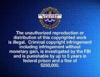 CTSP FBI Warning Screen 11