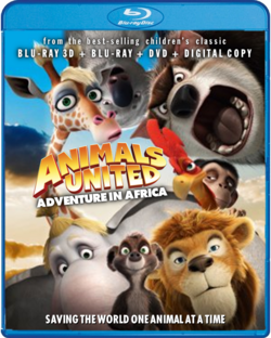 Animals United Blu-ray 3D USA cover