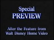 Special Preview After the Feature from Walt Disney Home Video