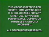 Disney Green Warning (VHS from 1997-2000)