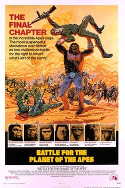 Battle of the Planet of the Apes poster