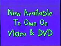 Now Available to Own on Video & DVD (Playhouse Disney Variant)