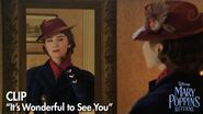 """""""It's Wonderful to See You"""" Clip Mary Poppins Returns"""