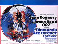 Diamonds Are Forever - UK cinema poster