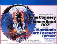 Diamonds Are Forever - UK cinema poster