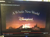 Disneyland Resort A Whole New World commercial