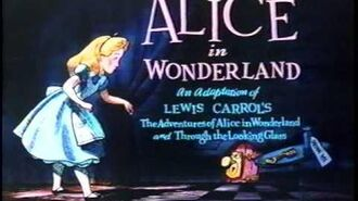 Opening to Alice in Wonderland 1986 VHS Slipcover box (Version B)