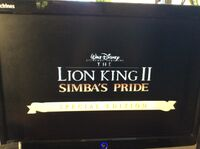 Video trailer The Lion King II Simba's Pride Special Edition