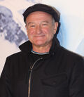 Photo of Robin Williams at the Happy Feet premiere in 2011.