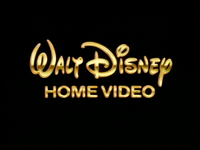 Walt Disney Home Video gold text logo