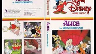 Opening and Closing to Alice in Wonderland 1982 VHS