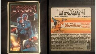 Opening to Tron 1982 VHS True HQ