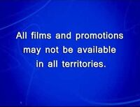 Disney All Films And Promotions May Not Be Available In All Territories 4x3