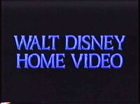 Walt Disney Home Video blue text logo