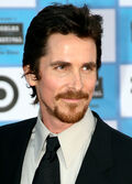 Photo of Christian Bale backstage at the 83rd Academy Awards in 2011.