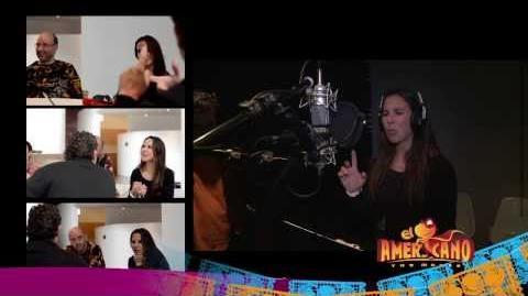Kate Del Castillo Recording Voice for El Americano The Movie