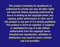 Disney Navy Blue Warning DVD 4x3