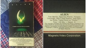 Opening to Alien 1980 VHS True HQ