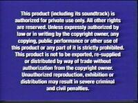 Disney Navy Blue Warning (VHS from 2003-2005)
