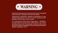 Sony R1 Warning Screen English