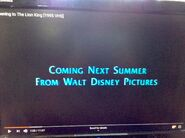 Coming Next Summer from Walt Disney Pictures