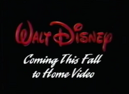 Coming This Fall to Home Video (WDHV)