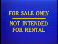 BVWD For Sale Only Not Intended For Rental Screen