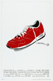 Man with one red shoe poster